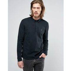 long sleeve polo shirt - black, Allsaints, XS-M