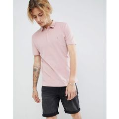 AllSaints Polo Shirt In Peached Cotton - Pink, w 4 rozmiarach