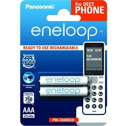 PANASONIC ENELOOP AAA 750 2BP DECT PHONES