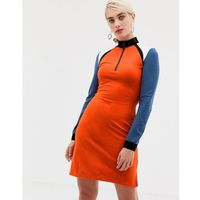 2ndday colourblock jersey dress with zip - multi, 2nd day, 32-42
