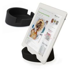 Bosign Bosign Kitchen Tablet Stand. Cookbook stand for iPad/tablet PC -Black. 11,4 cm, 4,5 cm high. Silicone - 262901 Darmowy odbiór w 19 miastach! (7394142629018)