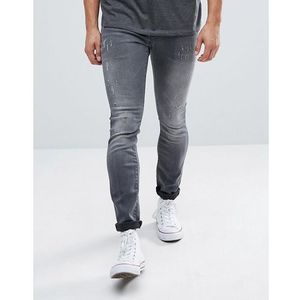 G-Star Revend Super Slim Jeans with Abraisons Washed Black - Grey, jeans