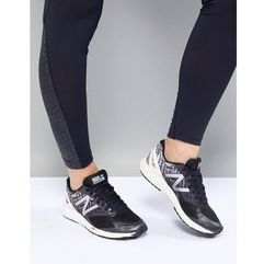 running strobe trainers in black and pink - black marki New balance