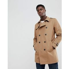 ASOS Shower Resistant Double Breasted Trench In Tobacco - Brown, kolor brązowy