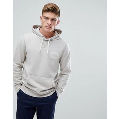 Abercrombie & fitch chest logo hoodie in stone - cream