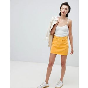 wend denim mini skirt in yellow - yellow marki Weekday