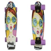 Fish skateboards Deskorolka fishskateboards art fish face / black / summer purple