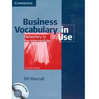 Business Vocabulary In Use + Cd, CAMBRIDGE UNIVERSITY PRESS