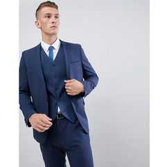 skinny suit jacket in mid blue - blue, Asos design
