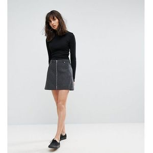 Weekday Zip Mini Skirt - Grey, kolor szary