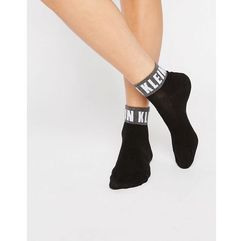 Calvin Klein Icon Logo Quarter Socks - Black, kolor czarny