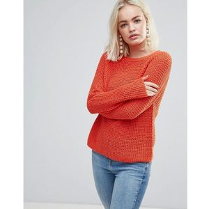 Soaked In Luxury Open Knit Jumper - Orange, kolor pomarańczowy