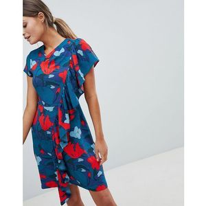 Closet printed dress with frill detail - multi, Closet london