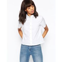 Asos design boxy short sleeve shirt - white