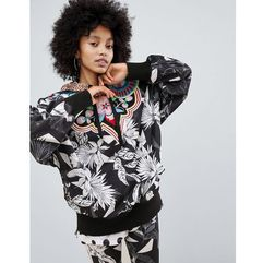 Adidas originals x farm multi print hooded windbreaker jacket - multi
