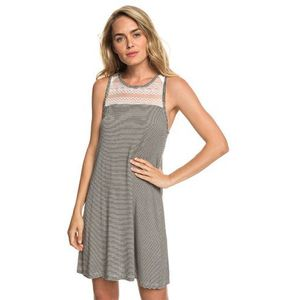 sukienka ROXY - What Lovers Do Anthracite Cosy Stripes (KVJ4)