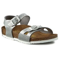 Sandały BIRKENSTOCK - Rio Kinder 0831783 Magic Galaxy Silver, kolor szary