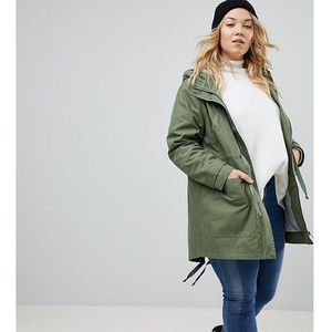 ASOS DESIGN Curve summer parka with jersey lining - Green, 1 rozmiar