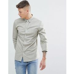 plain chambrey long sleeve shirt - green, Another influence, XS-XL