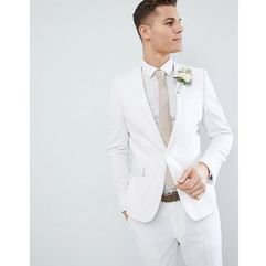 ASOS DESIGN skinny suit jacket in white - White, kolor biały