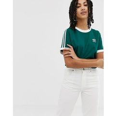 Adidas originals adicolor three stripe t-shirt in green - green