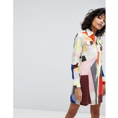 printed zipped shirt dress - multi, 2nd day