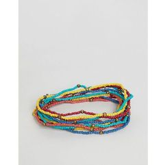 ASOS DESIGN beaded bracelet pack - Multi