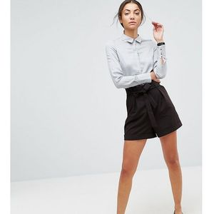 paperbag waist short - black marki Asos tall