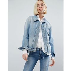 embroidered denim jacket - blue, 7 for all mankind