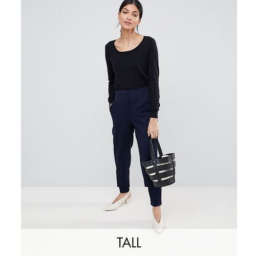 Y.A.S Tall Tailored Trouser with Elasticated Waist - Navy