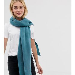 Accessorize light blue ribbed blanket scarf - blue