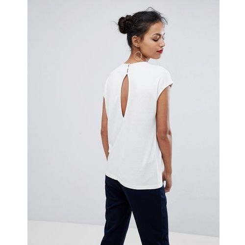 Y.A.S Jill Gathered Neckline Top - Cream
