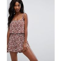 Zulu & zephyr giraffe print beach playsuit - multi, Zulu and zephyr