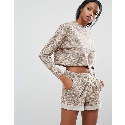 Y.A.S Lounge Sweat Top Co-Ord - Brown