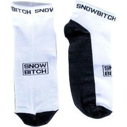 Skarpetki - snowbitch socks ankle white black (white-black) marki Snowbitch
